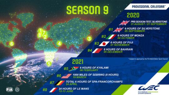 Il WEC torna a Monza nel 2020