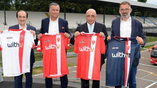 Presentata in Autodromo la nuova maglia del Monza Calcio