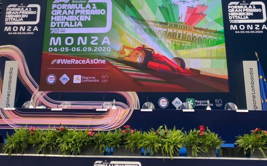 La presentazione del Gran premio d'Italia di Formula 1 2020 a palazzo della Regione Lombardia